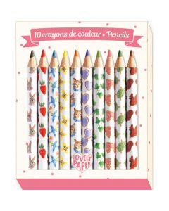 10 Aiko Mini Coloured Pencils