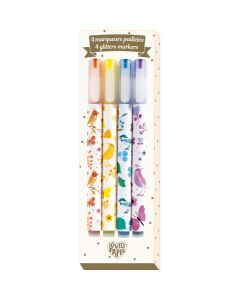 Djeco 4 Tinou Glitter Markers