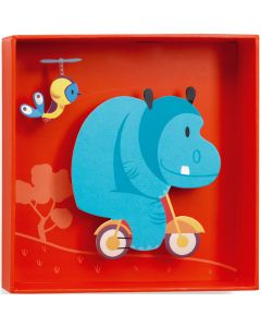 Djeco Wall Art - Hippo - save 25%