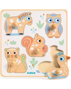 Djeco Baby White BabyPuzzi Lift Out Puzzle - SAVE 25%