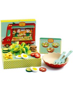 Pretend Play Salad Bar - Djeco Rosette and Cesar
