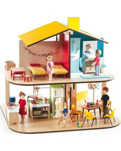 Djeco Dolls House Petit Home - The Colour Dolls House