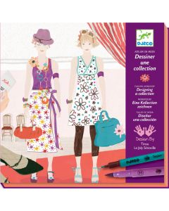 Djeco Felt Tips Draw a Fashion Show