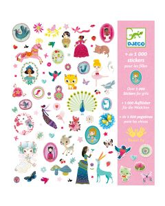 Djeco 1000 Stickers with Girls