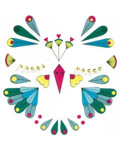 Djeco Face Stickers Kit - Bird