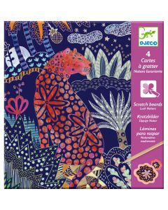 Djeco Scratch Boards - Lush Nature