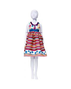 Dress Your Doll Audrey Stripes & Flowers