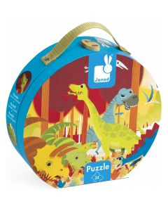 Janod Hat Boxed Jigsaw Puzzle - Dinosaurs