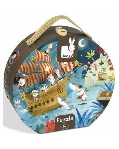 Janod Hat Boxed Jigsaw Puzzle - Treasure Hunt