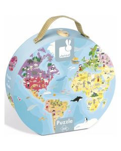 Janod Hat Boxed Double Sided Jigsaw Puzzle - Our Blue Planet