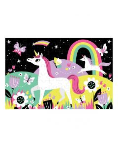 Mudpuppy Unicorn Puzzle - Glow In The Dark