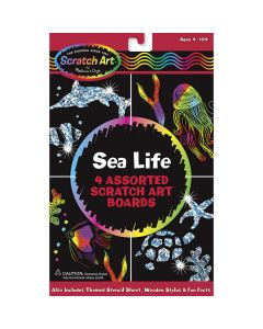 Scratch Art Sparkling Sea Life