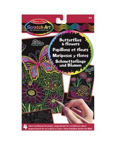 Melissa & Doug Scratch Art Butterflies and Flowers