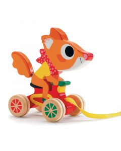 Wooden Pull Along Toy Fox