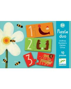 Educational Toddler Puzzle Duo - Numbers by Djeco