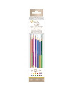 Double Ended Colouring Pencils - Avenue Mandarine