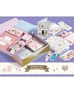 My Stationery Tinou - Lovely Paper by Djeco - damaged box - save 25%
