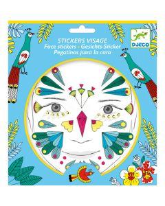 Djeco Face Stickers Kit - Bird