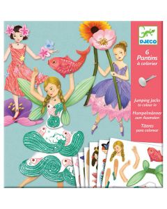 Fairy Jumping Jacks to Colour - Djeco