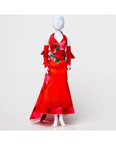 Mary Red Roses Dress Your Doll