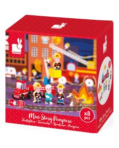 Janod Imaginative Play - Mini Story, Firefighters