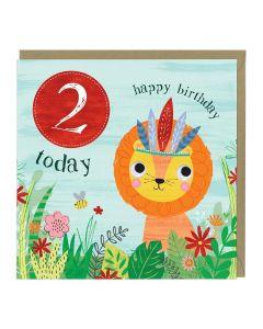 2nd Birthday Card - Lion