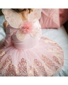 Rose Gold Tutu and Wings Age 4-7
