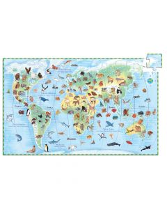 World's Animals + Booklet - Djeco Observation Puzzle