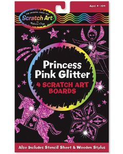 Melissa and Doug Princess Pink Glitter Scratch Art