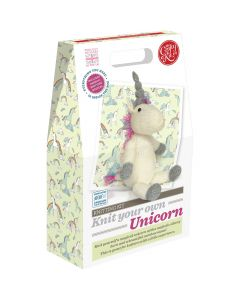 The Crafty Kit Co. Knitting Kit - Knit your own Unicorn