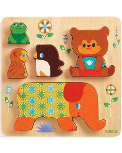Djeco First Wooden Puzzle - Woodypile - SAVE 25%