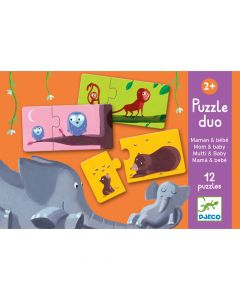 Educational Toddler Puzzle Duo - Mum and baby by Djeco