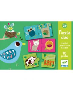 Djeco Educational Toddler Puzzle Duo - Habitat