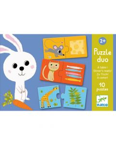 Educational Toddler Puzzle Duo - Dinner's ready! by Djeco