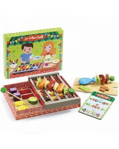 Djeco Pretend Play Wooden BBQ Set - Joe and Max Grill