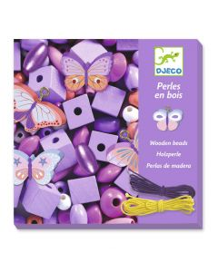 Djeco Wooden Threading Beads - Butterflies