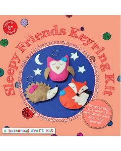 Sleepy Friends Keyring Kit - Buttonbag