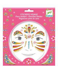 Djeco Face Stickers Kit - Gold Princess