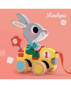 Wooden Pull Along Toy Rabbit