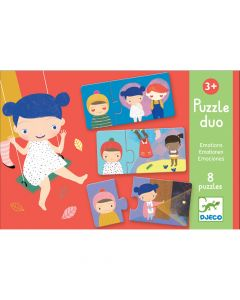 Djeco Educational Toddler Puzzle Duo - Emotions