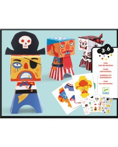 Djeco Paper Toys Pirate Transfers