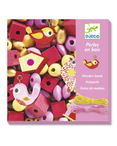 Djeco Wooden Threading Beads - Birds