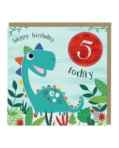 5th Birthday Card - Dinosaur