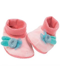 Pink Baby Slippers - Moulin Roty Save 50%
