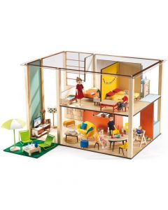 Djeco Dolls House Petit Home - The Cubic Dolls House