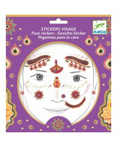 Djeco Face Stickers Kit - India Princess