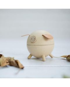 PLAN Toys Wooden Piggy Bank - White