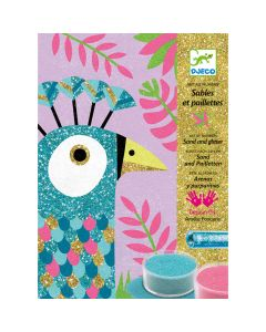 Djeco Sand and Glitter Dazzling Birds