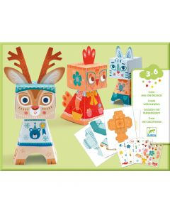 Djeco Paper Toys Funny Animal Transfers