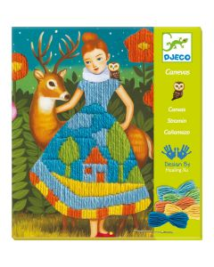Djeco Embroidery Canvas - Dress